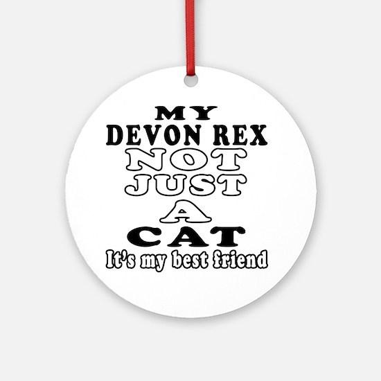 Devon Rex Cat Designs Ornament (Round)