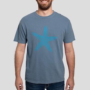 Blue Starfish Pattern Mens Comfort Colors Shirt