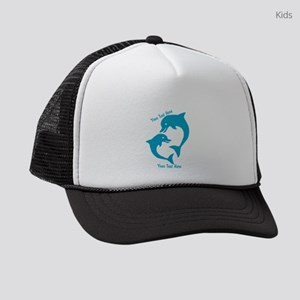 CUSTOM TEXT Cute Dolphins Kids Trucker hat