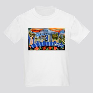 Yakima Washington Greetings (Front) Kids T-Shirt