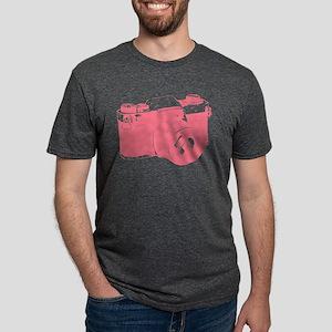 Pink Camera Mens Tri-blend T-Shirt
