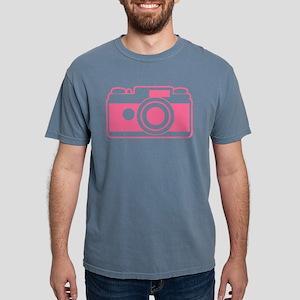 Pink Retro Camera Mens Comfort Colors Shirt