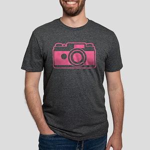 Pink Retro Camera Mens Tri-blend T-Shirt