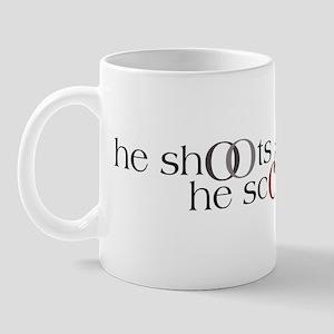 He Shoots. He Scores. Version II Mug
