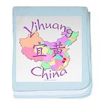 Yihuang China Map baby blanket