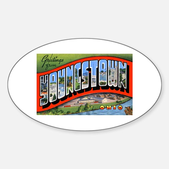 Youngstown Ohio Greetings Oval Decal