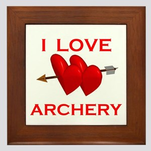 I LOVE ARCHERY Framed Tile