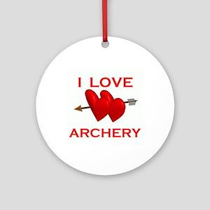 I LOVE ARCHERY Ornament (Round)