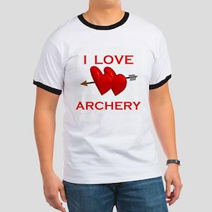 I LOVE ARCHERY Ringer T
