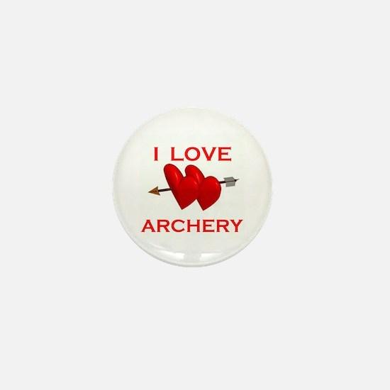 I LOVE ARCHERY Mini Button