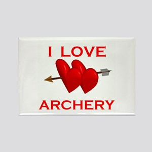 I LOVE ARCHERY Rectangle Magnet