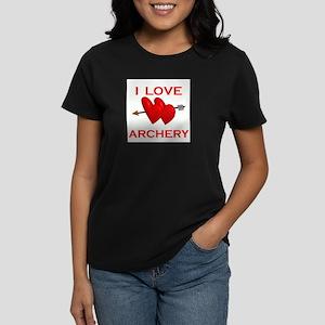 I LOVE ARCHERY Women's Dark T-Shirt