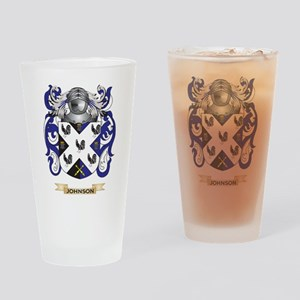 Johnson Coat of Arms (Family Crest) Drinking Glass