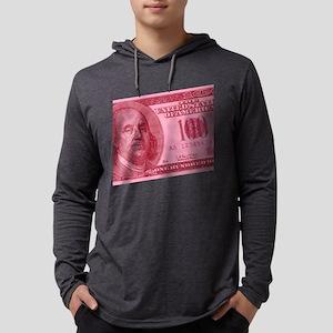 100-dollar-closeup_pink Mens Hooded Shirt
