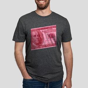 100-dollar-closeup_pink Mens Tri-blend T-Shirt