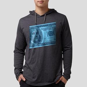 100-dollar-closeup_blue Mens Hooded Shirt