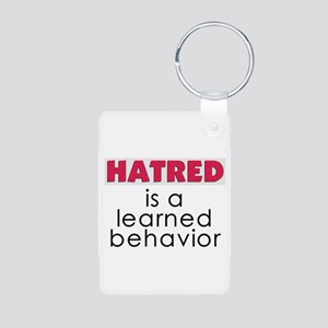 Hatred is learned Aluminum Photo Keychain