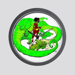 the Dragon Lady Wall Clock