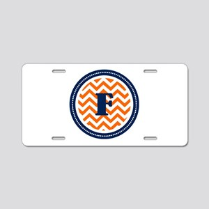 Orange & Navy Aluminum License Plate