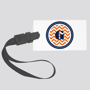 Orange & Navy Large Luggage Tag