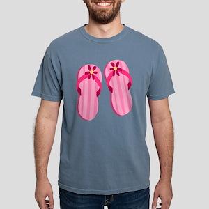 Pink Flip Flops Mens Comfort Colors Shirt