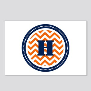 Orange & Navy Postcards (Package of 8)
