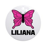 Liliana - Butterfly Ornament (Round)