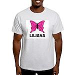 Liliana - Butterfly Ash Grey T-Shirt
