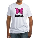 Liliana - Butterfly Fitted T-Shirt