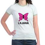 Liliana - Butterfly Jr. Ringer T-Shirt