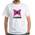 Liliana - Butterfly White T-Shirt