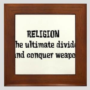 Religion Weapon Framed Tile