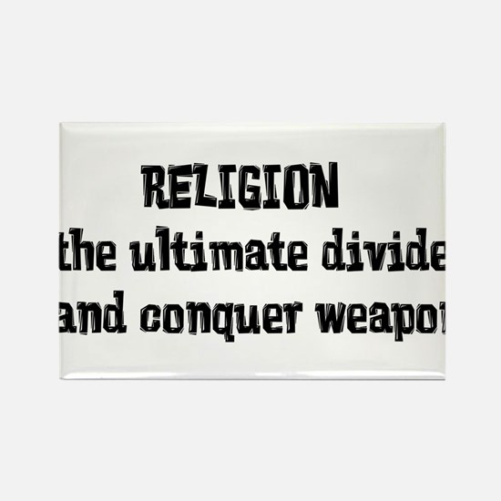 Religion Weapon Rectangle Magnet