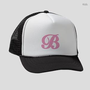 B-pink-initial_tr Kids Trucker hat