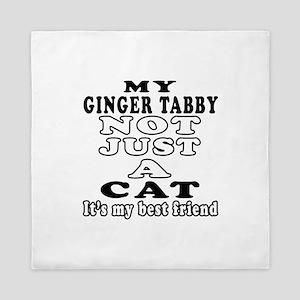 Ginger tabby Cat Designs Queen Duvet