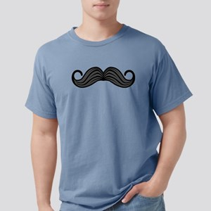 Retro Moustache Mens Comfort Colors Shirt