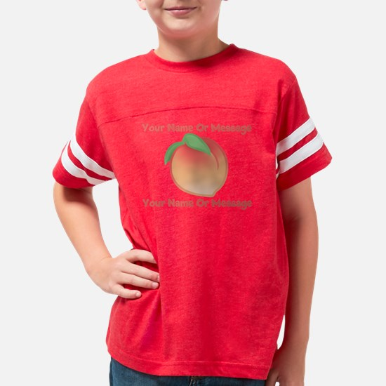 PERSONALIZED Peach Cute Youth Football Shirt