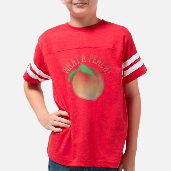 Cute What A Peach Youth Football Shirt