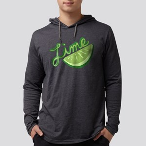 Cute Lime Slice Mens Hooded Shirt