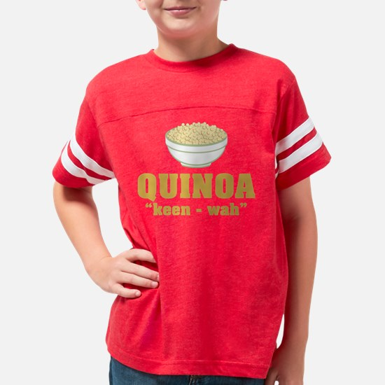 Quinoa Pronunciation Youth Football Shirt