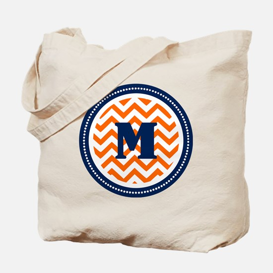 Orange & Navy Tote Bag
