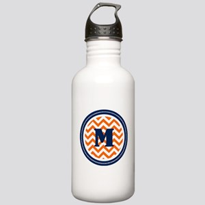 Orange & Navy Stainless Water Bottle 1.0L