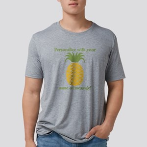 PERSONALIZED Pineapple Mens Tri-blend T-Shirt