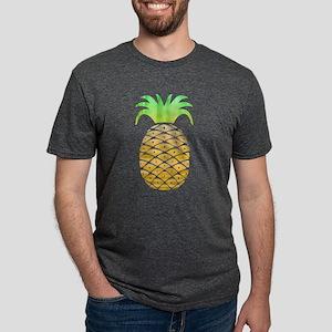 Colorful Pineapple Mens Tri-blend T-Shirt