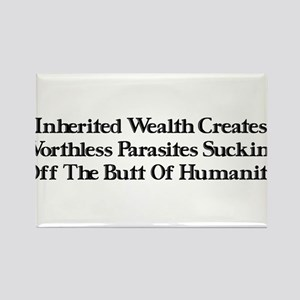 Worthless Rich Parasites Rectangle Magnet
