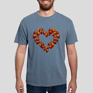 strawberry-heart Mens Comfort Colors Shirt