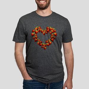 strawberry-heart Mens Tri-blend T-Shirt