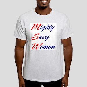 Mighty Sexy Woman Light T-Shirt