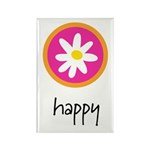happy rectangle magnet (10 pack)
