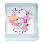 Yiyang China Map baby blanket